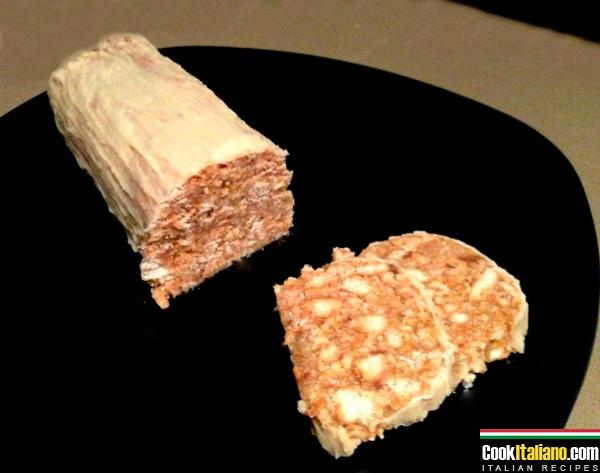 White chocolate salami - Ricetta