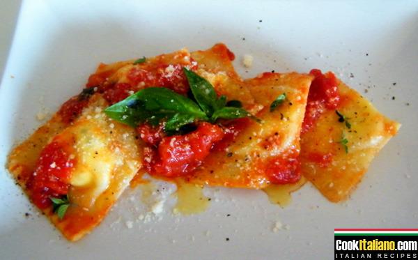 Ravioli with mozzarella cheese - Ricetta